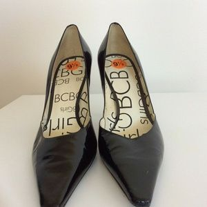 BCBG Black Patent Leather High Heels